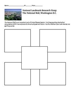Washington, DC and United States National Landmark Researc