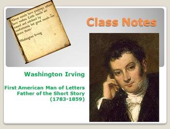 Washington Irving Author Background Notes