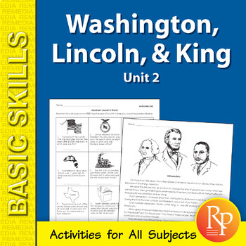 Washington, Lincoln, & Martin Luther King Unit for All Subjects 2