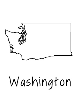 Washington Map Coloring Page Activity - Lots of Room for N