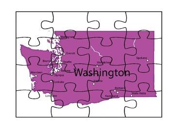 Washington Puzzle Map