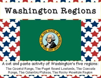 Washington Regions: A cut and paste activity