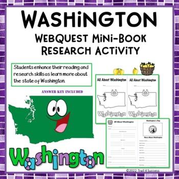 Washington State Webquest Common Core Research Mini Book