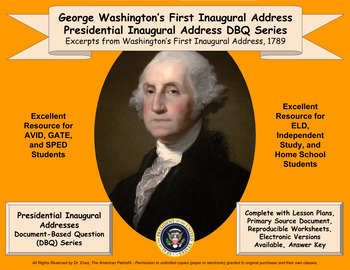 Washington's First Inaugural Address - DBQ - PPTX - Ready
