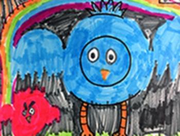 "Wassily Kandinsky ""Angry Birds"" Template"