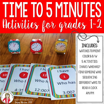 Telling Time to 5 Minutes Games 2nd Grade