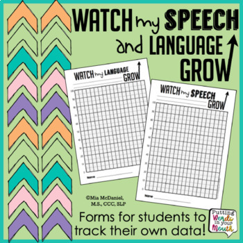 Watch My Speech & Language Grow {forms for students to tra