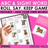 Dagnabbit Rabbit Sight Word Roll, Say, Keep-Editable