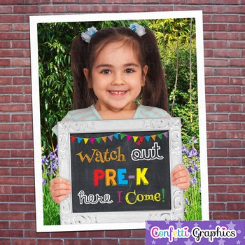 Watch Out Pre-K Here I Come Last Day of School First Day C