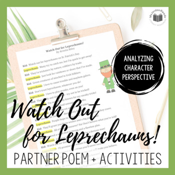 """Watch Out for Leprechauns"" {A Seasonal Partner Poem for S"
