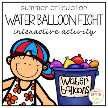 Water Balloon Fight Interactive Articulation Activity