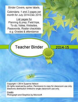 Water Blues Teacher Binder