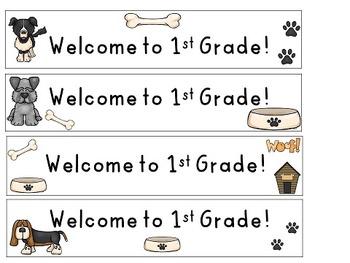 Water Bottle Labels, K-5: dog theme