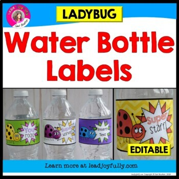 Water Bottle Labels: Gift for Teachers, Staff, or Students