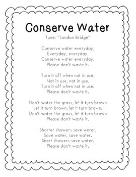 Water Conservation Song