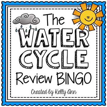 Water Cycle Review Bingo