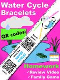 Water Cycle Bracelets with QR Codes {Kindergarten Homework}