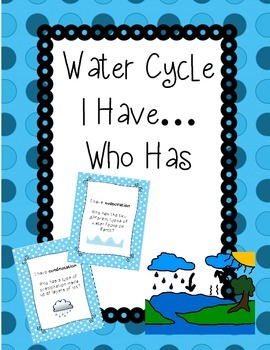 Water Cycle I Have Who Has? Game