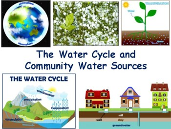 Water Cycle Lesson & Flashcards - task cards, study guide,