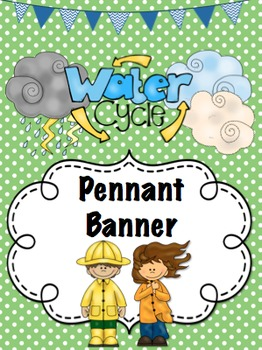 Water Cycle *Pennant* Banner