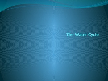 Water Cycle Power Point Presentation