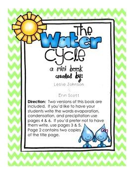 Water Cycle Printable Mini Book