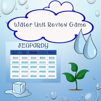 Water Cycle Review Game Jeopardy includes States of Matter