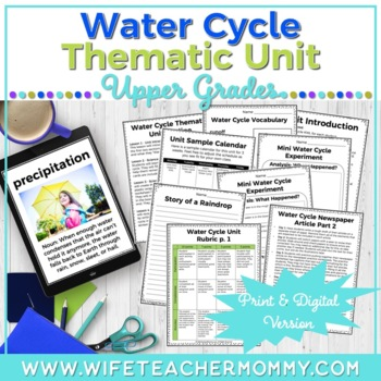 Water Cycle Unit- An integrated thematic unit!