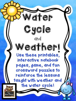 Water Cycle & Weather: Fun and Informational Printables, N