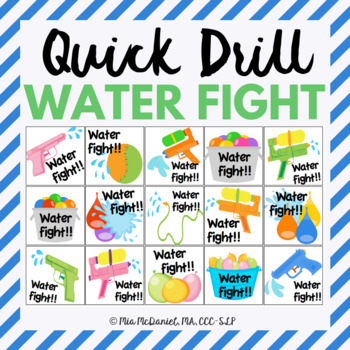 Water Fight Quick Drill {for any skill drill}