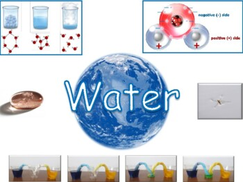 Water Lesson and Flashcards - task cards, study guide, sta