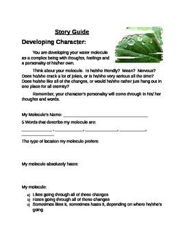 Water Molecule Narrative Writing Assignment