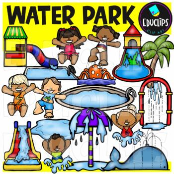 Water Park Clip Art Bundle {Educlips Clipart}