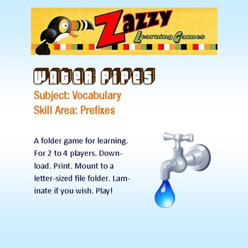 Water Pipes Folder Games Vocabulary Prefixes