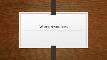 Water Resource Powerpoint