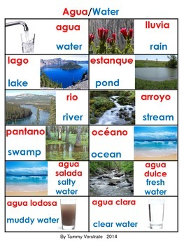 Water Sources Bilingual
