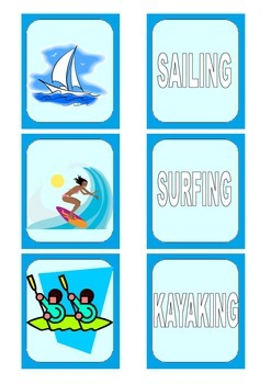 Water Sports Card Game