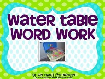 Water Table Word Work