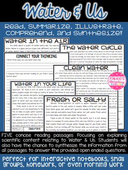 Water & Us: Science Articles w/ Comprehension Paired Text