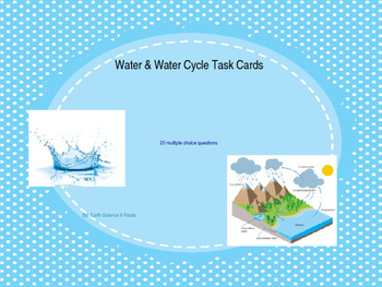 Water & Water Cycle Task Cards