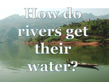 Water cycle, water and rivers lesson plans, powerpoints an