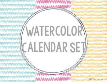 Calendar Set- Watercolor