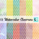 Watercolor Chevron Papers, Pretty Water Colour Papers