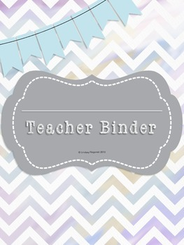 Teacher Binder Watercolor Chevron