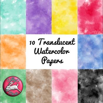 Watercolor Digital Papers