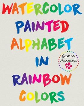 Watercolor Painted Alphabet