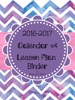 Watercolor-Themed Teacher Calendar & Lesson Planner