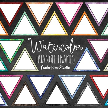 Watercolor Triangle Frames