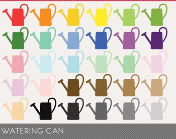 Watering Can Digital Clipart, Watering Can Graphics, Water