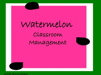 Watermelon Classroom Management Set